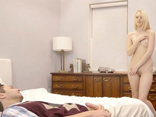Sexo loirinha virgem